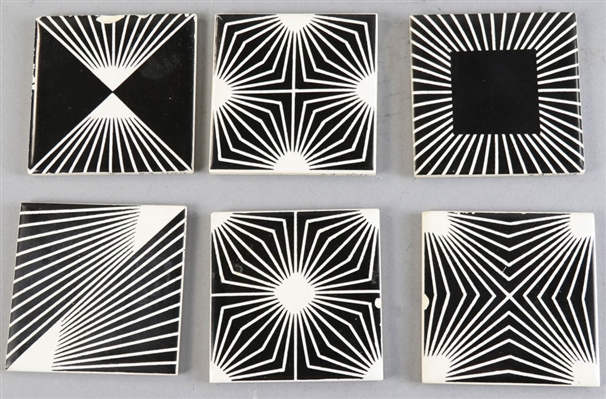 Mid Century Modern Black and White Tiles