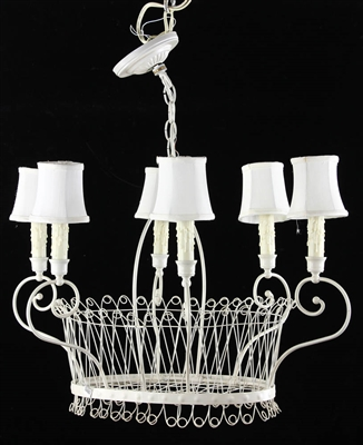 French Wire Basket Design Chandelier