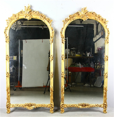 Pair of Decorative Gilt Framed Mirrors