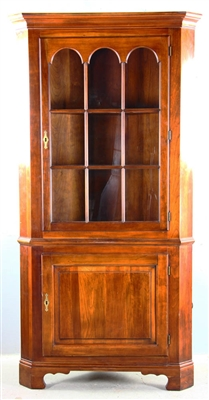 Early American Cherry Corner Cabinet