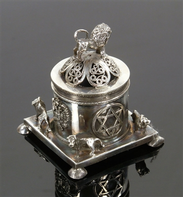 Russian Silver Judaica Trinket Box