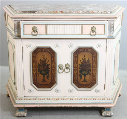 Antique Neoclassical Painted Cabinet