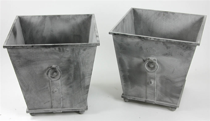 Pair of Georgian Style Square Urns