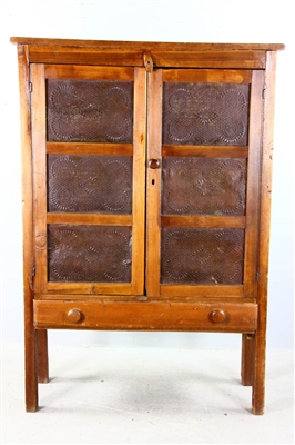 Early American Pie Safe with Pierced Panels