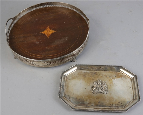 Two Old Silver Trays