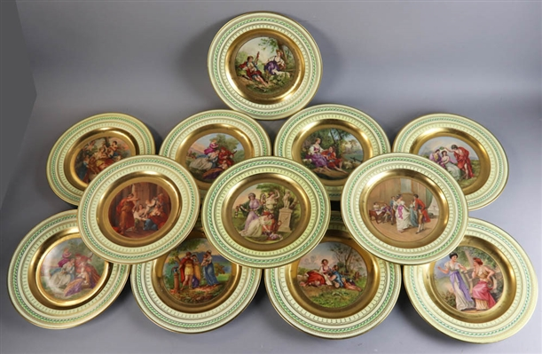 Set of (12) Royal Vienna Style Plates