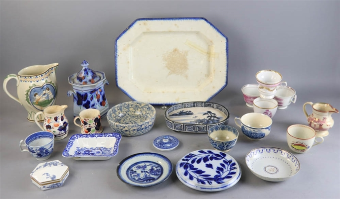 Group of Blue and White China
