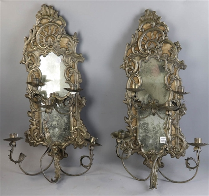Pair of Antique Continental Rococo Sconces