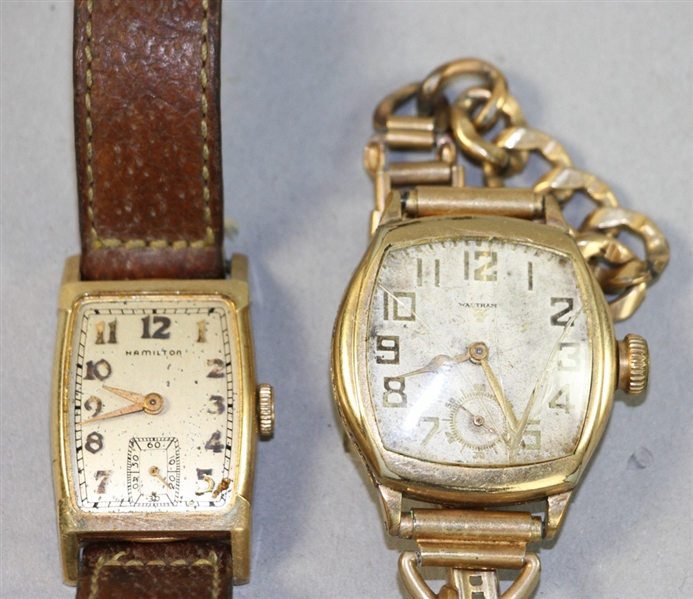 Two Mens Watches, Waltham, Hamilton
