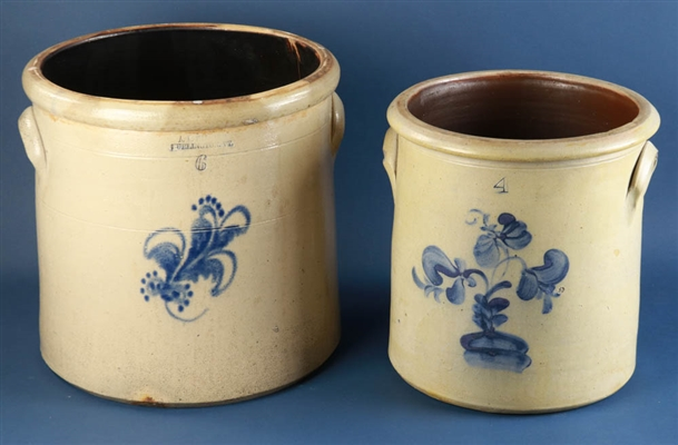 Decorated Pottery Crocks