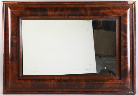 Antique Flame Mahogany Framed Mirror
