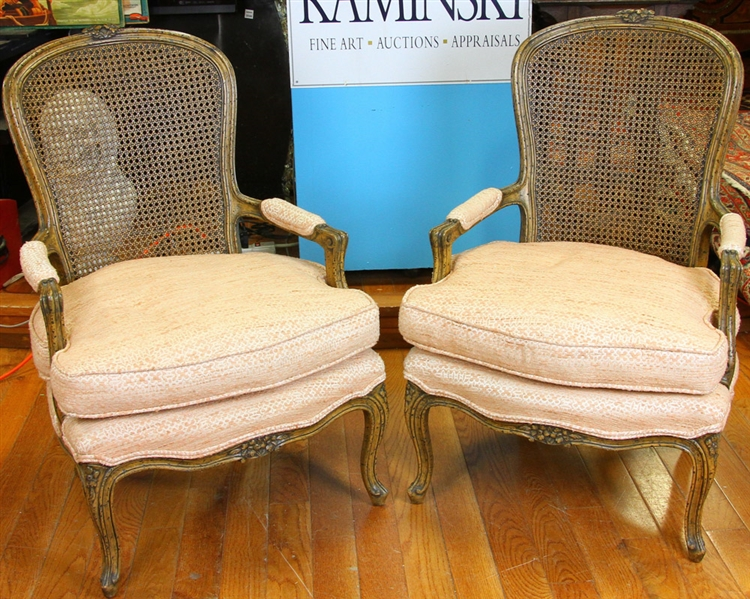Pair of 19thC French Louis XVI Style Armchairs