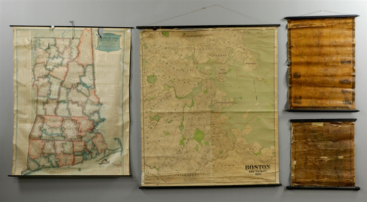 Four Old Maps, Dartmouth, Boston, Plymouth, Maine