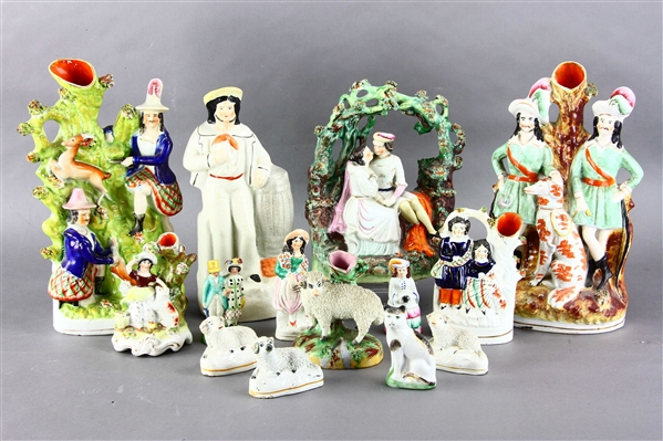 Group of Staffordshire Pottery Figures