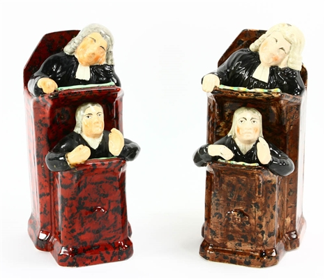 Two Staffordshire Figures, Vicar and Moses
