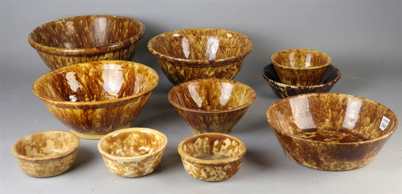 Group of Ten Rockingham/Bennington Bowls