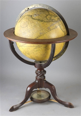 Carys New Terrestrial Globe from 1800 with Compass