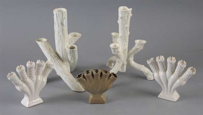 (5) Tulip and Stick Form Vases
