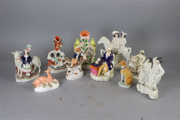 Group of Eleven Staffordshire Figures