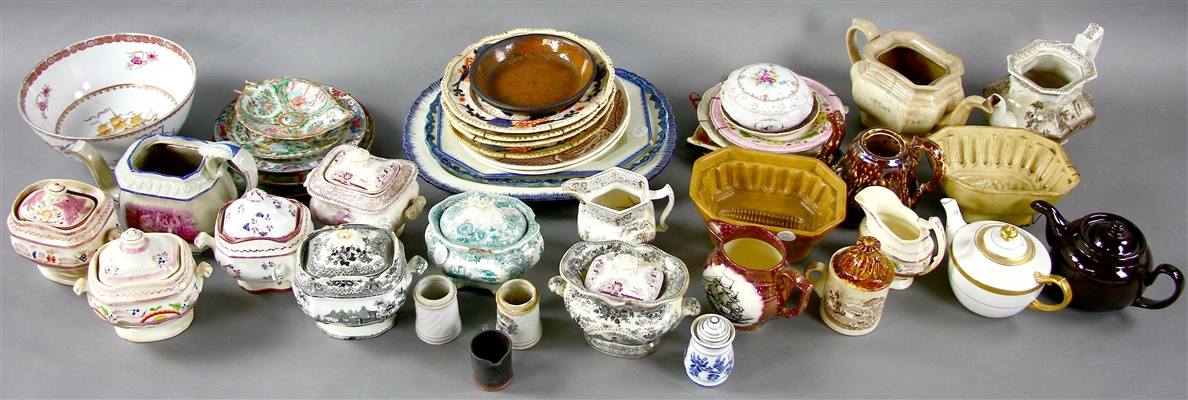 Large Collection English Chinese Pottery Porcelain