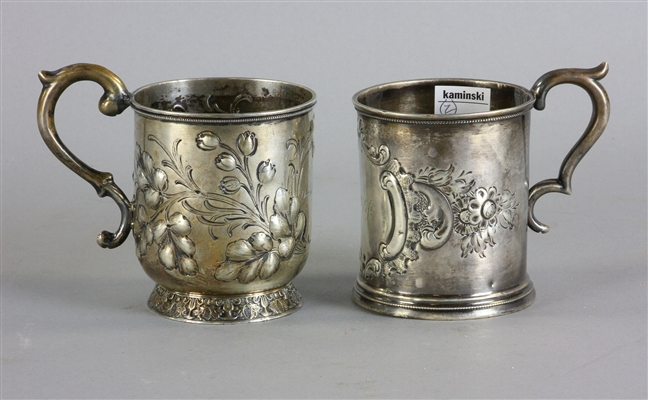 Two New Orleans Coin Silver Cups