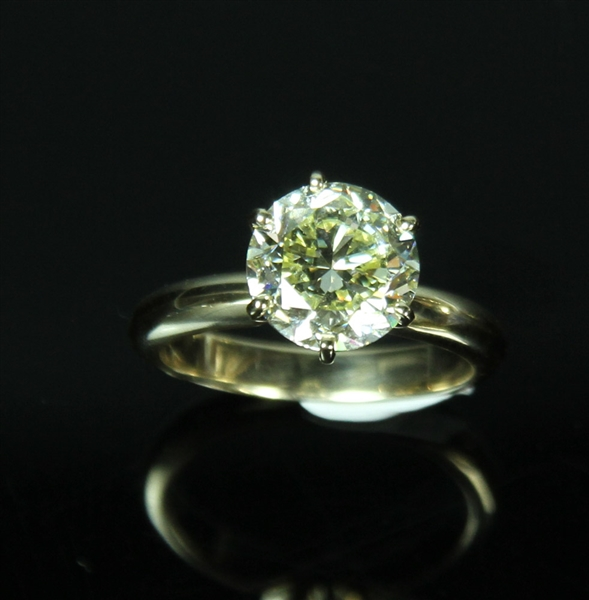 14k Yellow Gold Ring with Natural Yellow Diamond