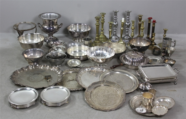 Large Collection Equestrian Silver, Silverplate