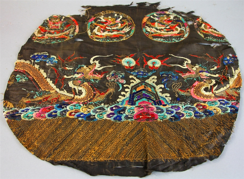19thC Chinese Embroidered Panel