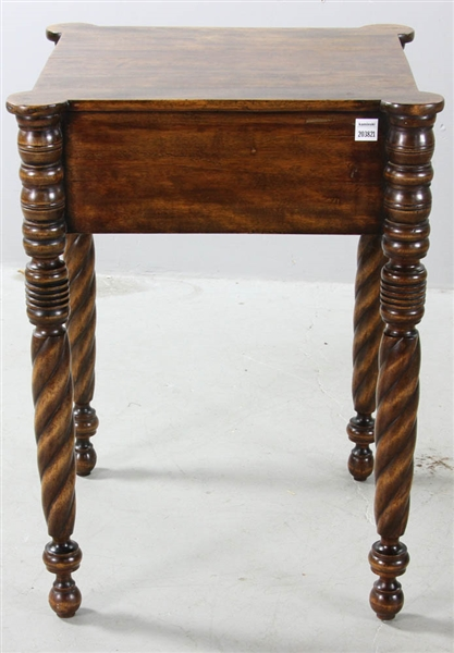 Early 19thC American Federal Birch Work Table