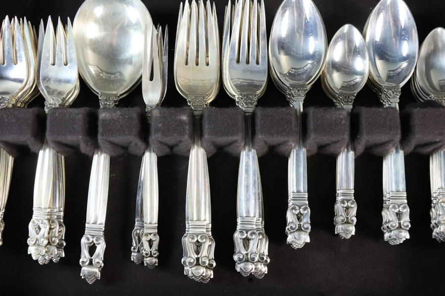 Georg Jensen Sterling Flatware Acorn Pattern