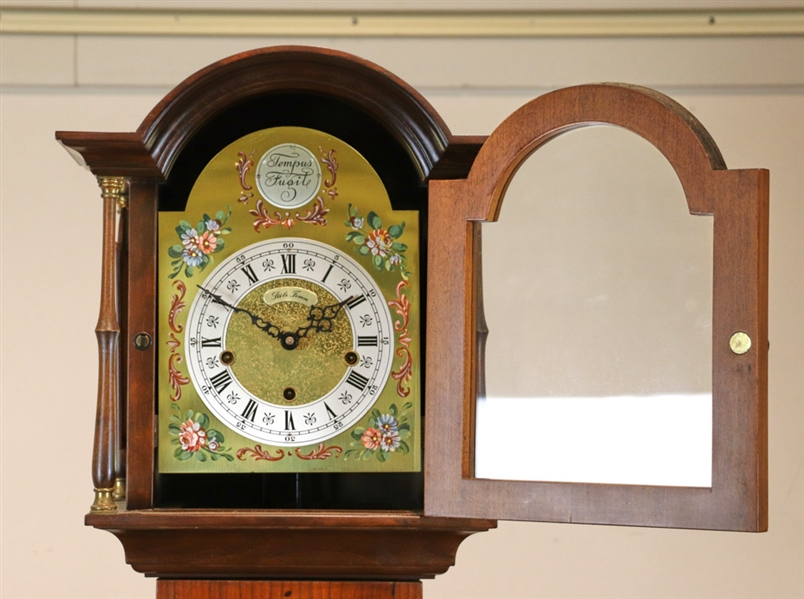Grandmother Clock signed Stile Fomm