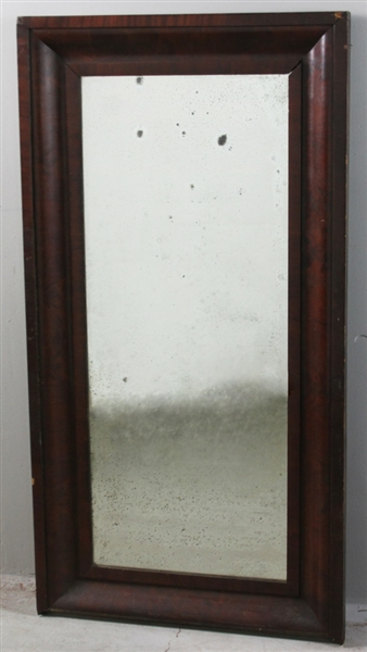 Antique American Classical Mahogany Framed Mirror