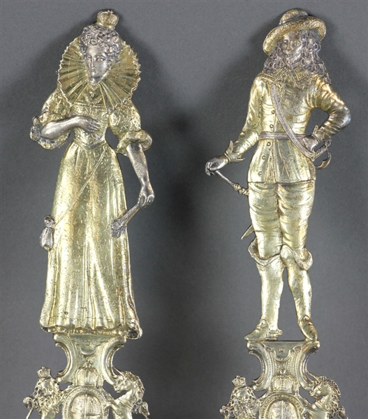 Pair of Silver Vermeil Spoons