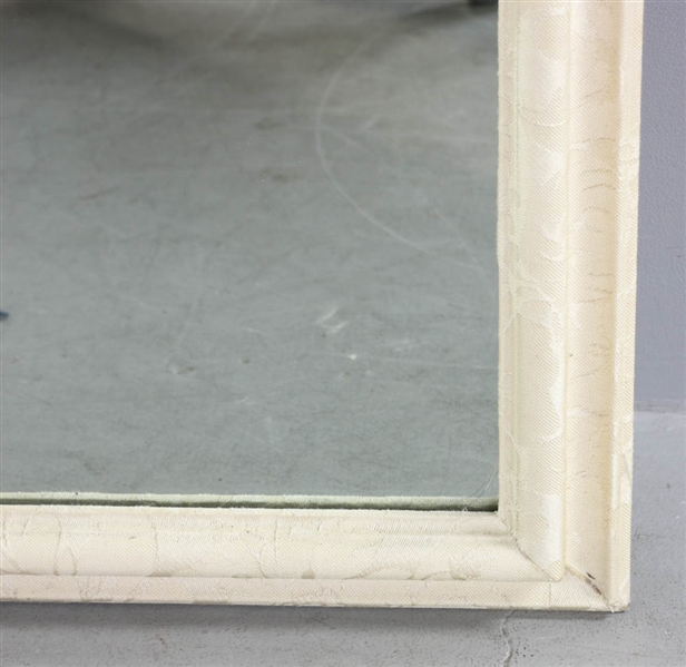 Pair of Mirrors Framed in Ivory Brocade
