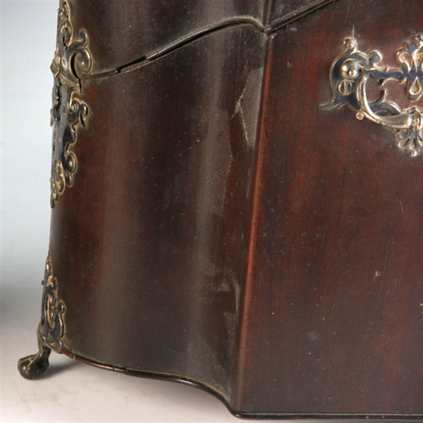 Pair of 18th C Cutlery Boxes, Sterling Cutlery