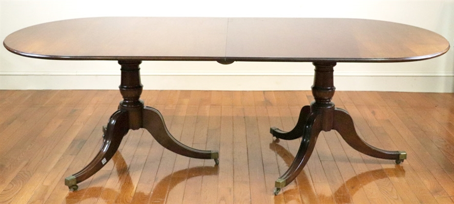 Early 19thC English Style 2-Pedestal Table