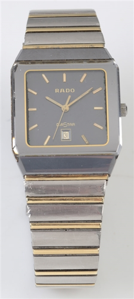 Rado Mens Stainless and 14k Gold Wristwatch