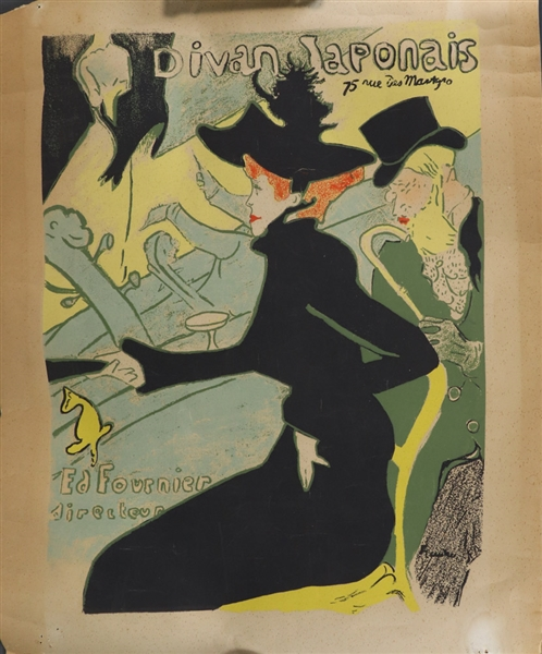 After Toulouse-Lautrec, Poster, Divan Japonais