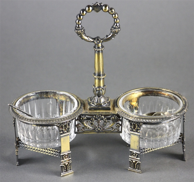 Pair of 19thC French Silver Vermeil Salts