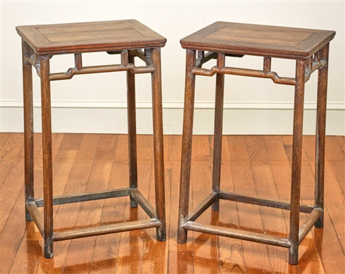 Pair of Chinese Huali Wood Stands