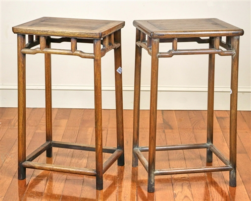 Two Antique Chinese Huali Wood Stands