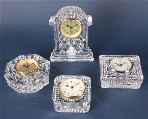 Four Waterford Crystal Clocks