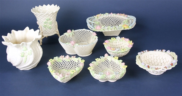 Irish Belleek Porcelain Pieces