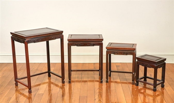 Old Chinese Nest of Four Tables