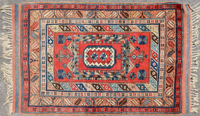 Semi Antique Caucasian Kazak Rug