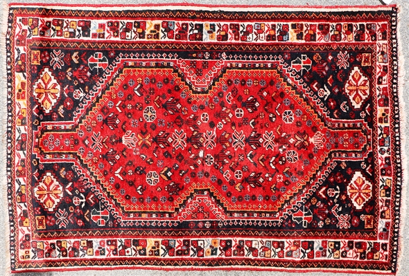 Semi Antique Persian Shiraz Rug
