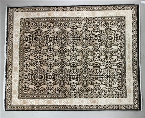 Sino Sculptured Tabriz Rug Pineapple Design