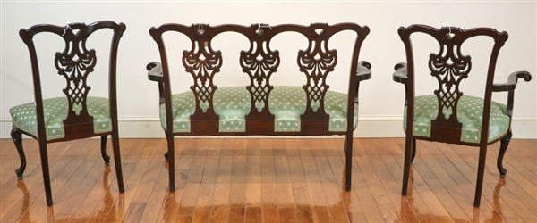 Early 20th C Chippendale Style Suite
