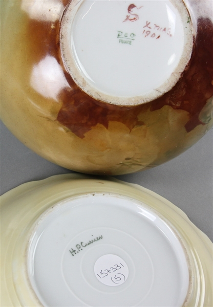 Group of Limoges and Bavarian Porcelain
