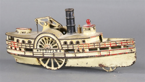 (3) Vintage Toys, Steam Engine, Firetruck, Boat